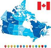 Canada Map-Vector Illustration