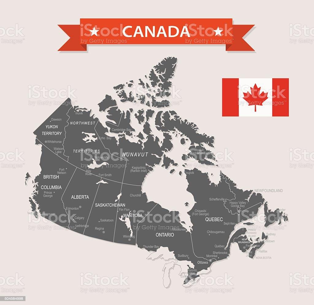 Canada - old-fashioned map - Illustration vector art illustration