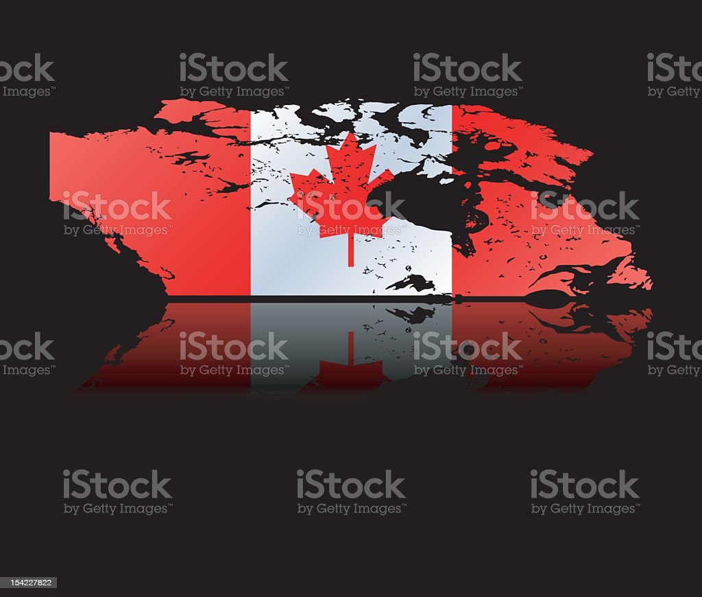 Canada on Black royalty-free stock vector art