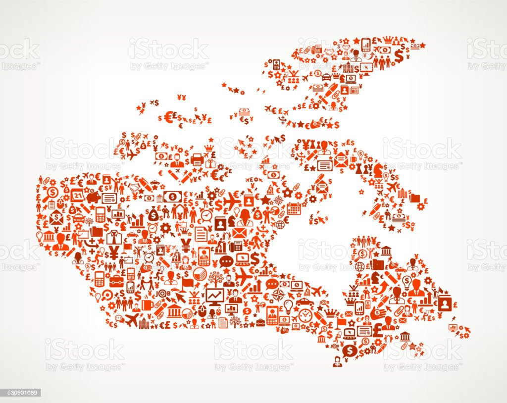 Canada On Business royalty free vector art Pattern vector art illustration