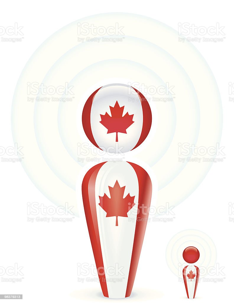 Canada Podcast royalty-free stock vector art