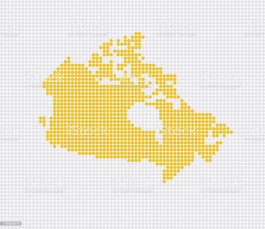 Canada Pop Map ( Vector ) royalty-free stock vector art
