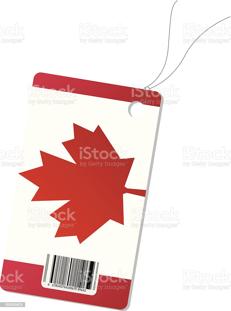Canada price tag royalty-free stock vector art