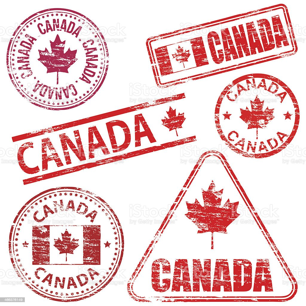 Canada Rubber Stamps vector art illustration