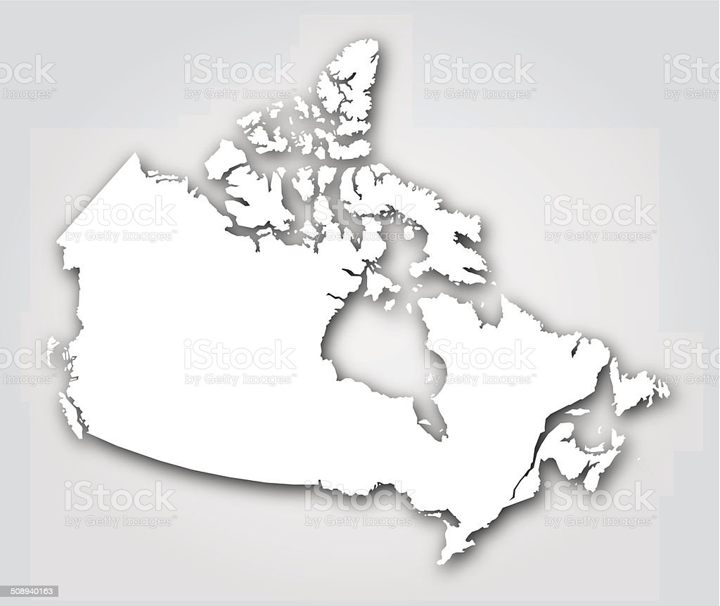 Canada Silhouette White vector art illustration