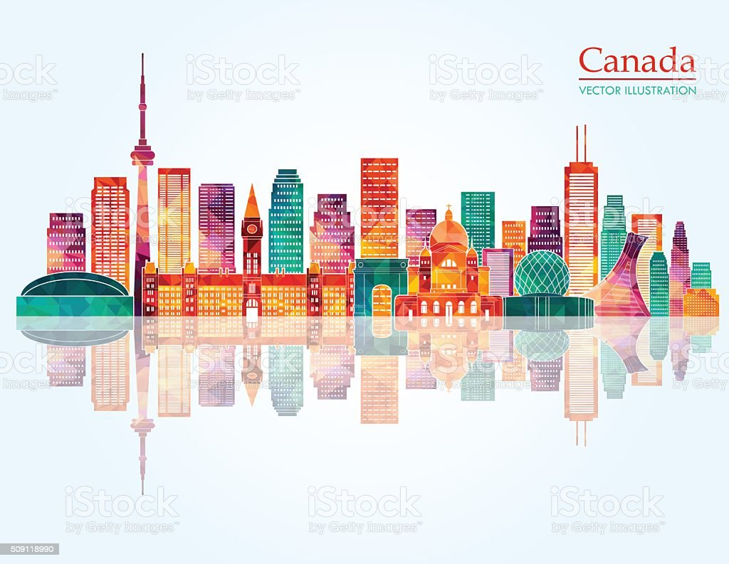 Canada skyline. Vector illustration vector art illustration