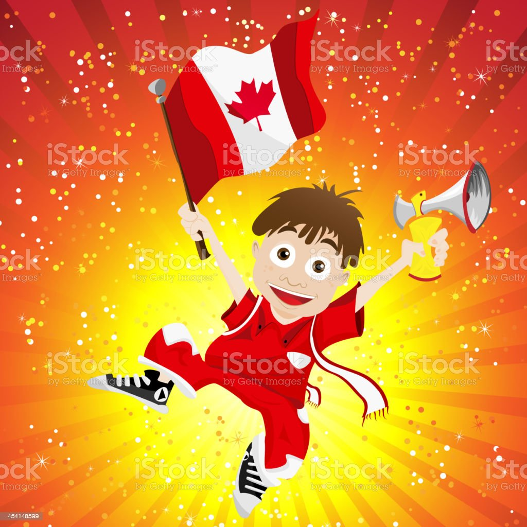 Canada Soccer Fan Boy royalty-free stock vector art
