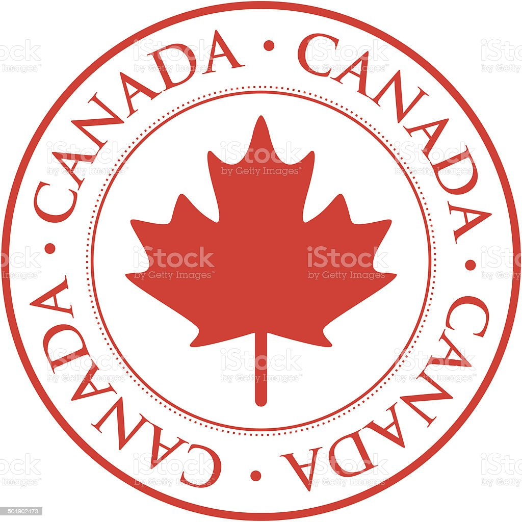 Canada stamp vector art illustration