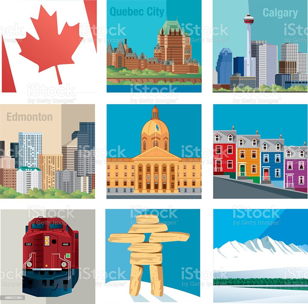 Canada Symbols vector art illustration