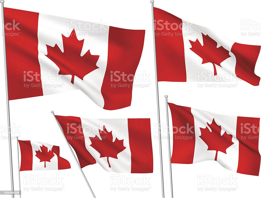 Canada vector flags royalty-free stock vector art