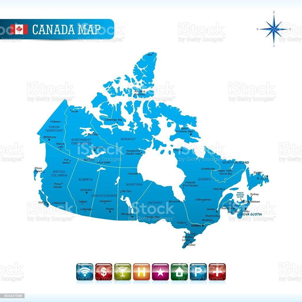 Canada Vector Map vector art illustration