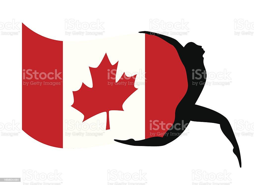 Canada?s flag royalty-free stock vector art