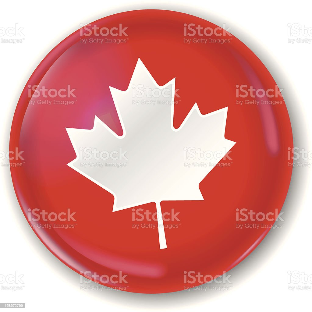 canadian badge (1 credit) vector art illustration