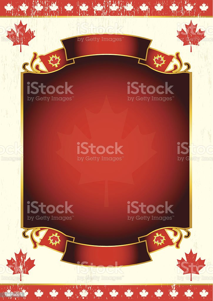 Canadian day royalty-free stock vector art