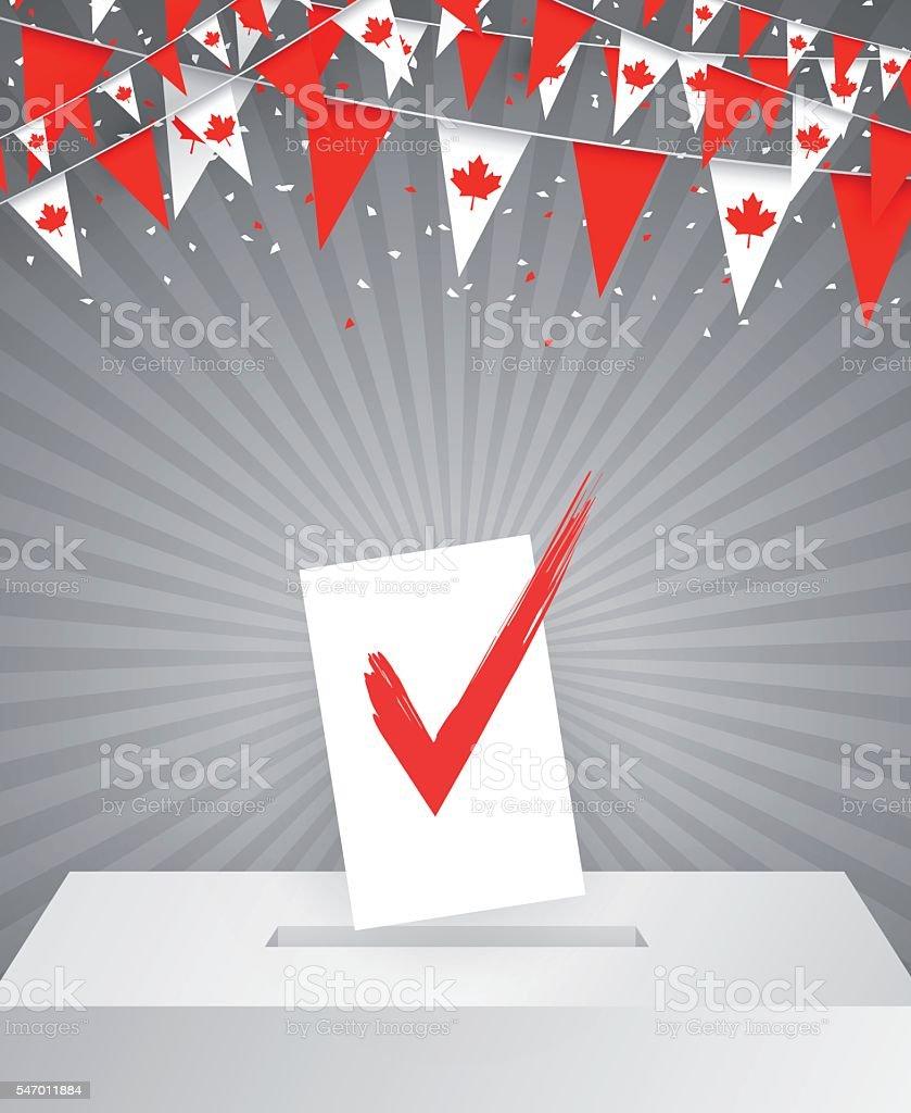 Canadian election vector art illustration