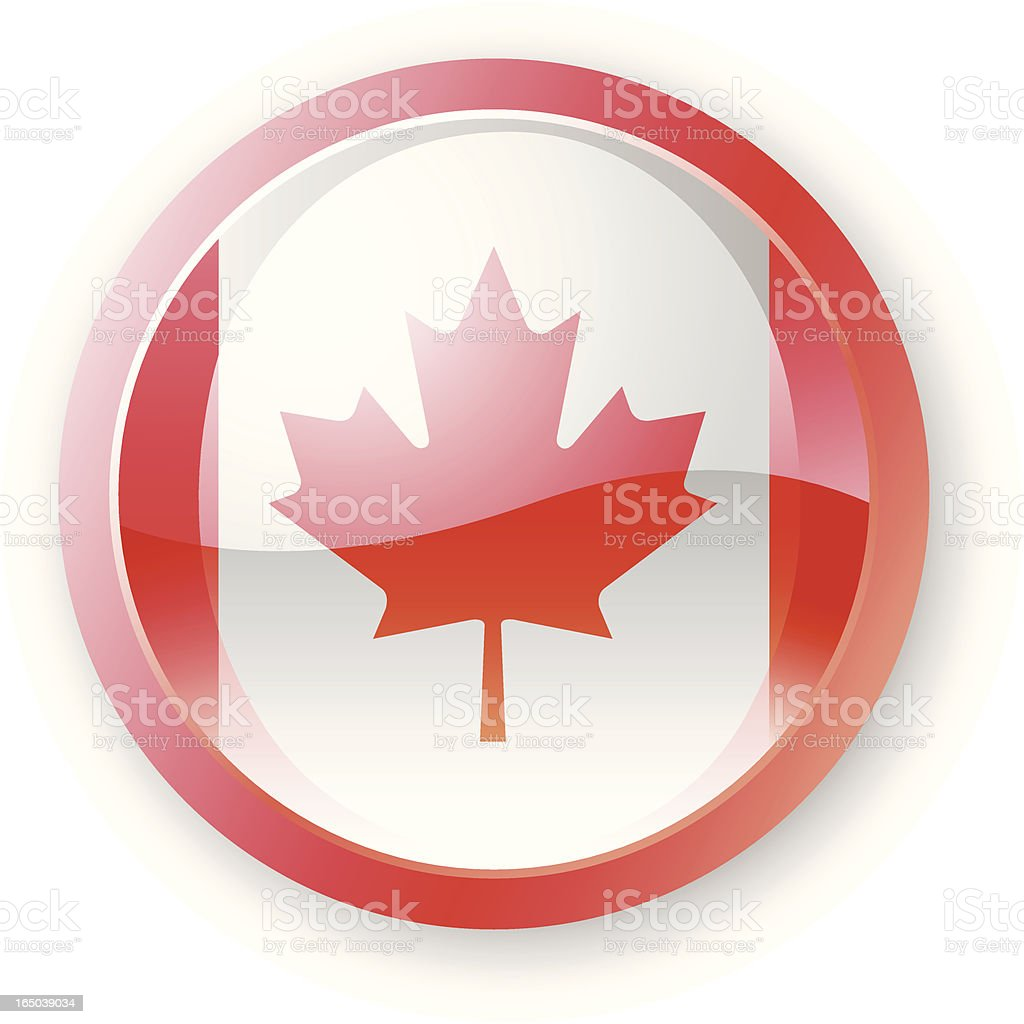 Canadian Flag Icon royalty-free stock vector art