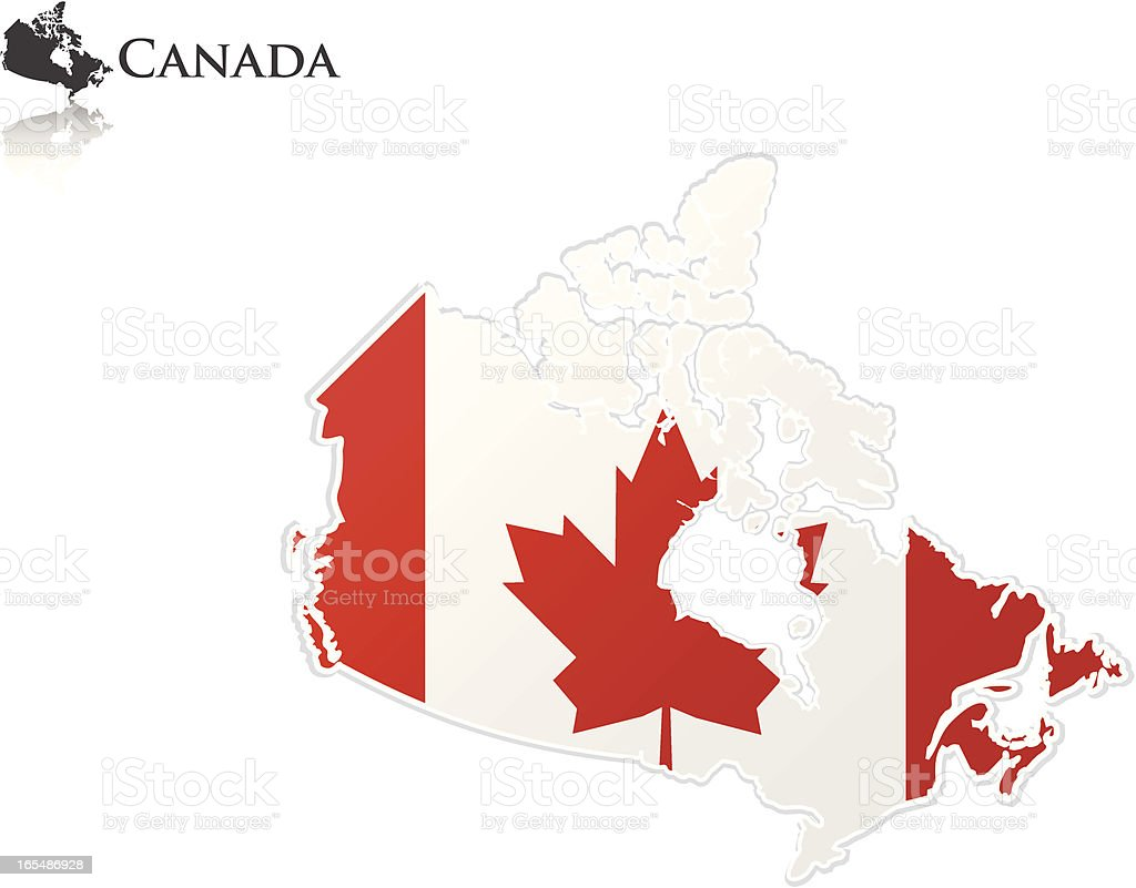 Canadian Flag - Map royalty-free stock vector art
