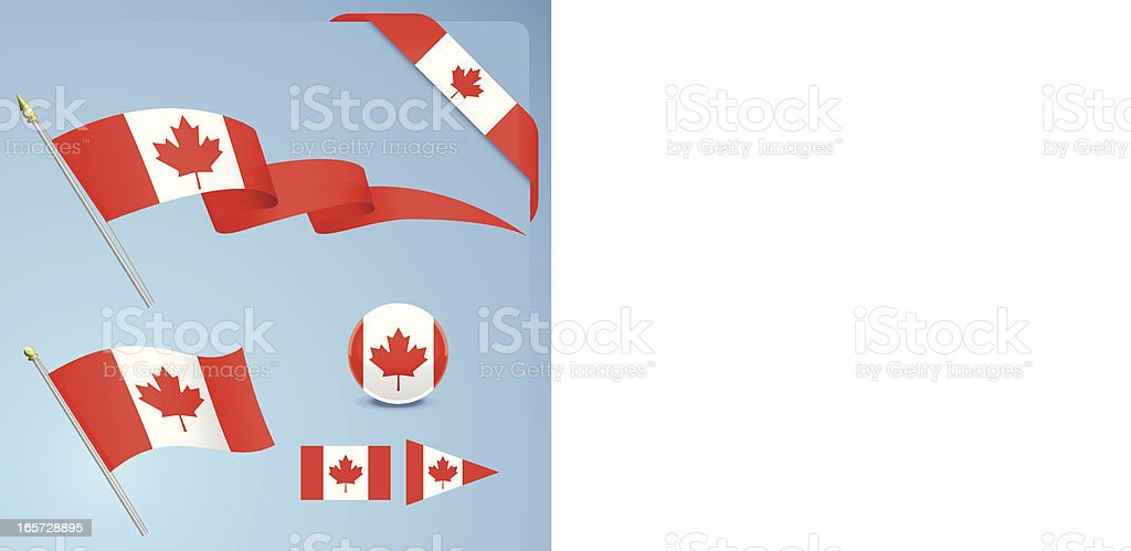 Canadian Flag Set royalty-free stock vector art