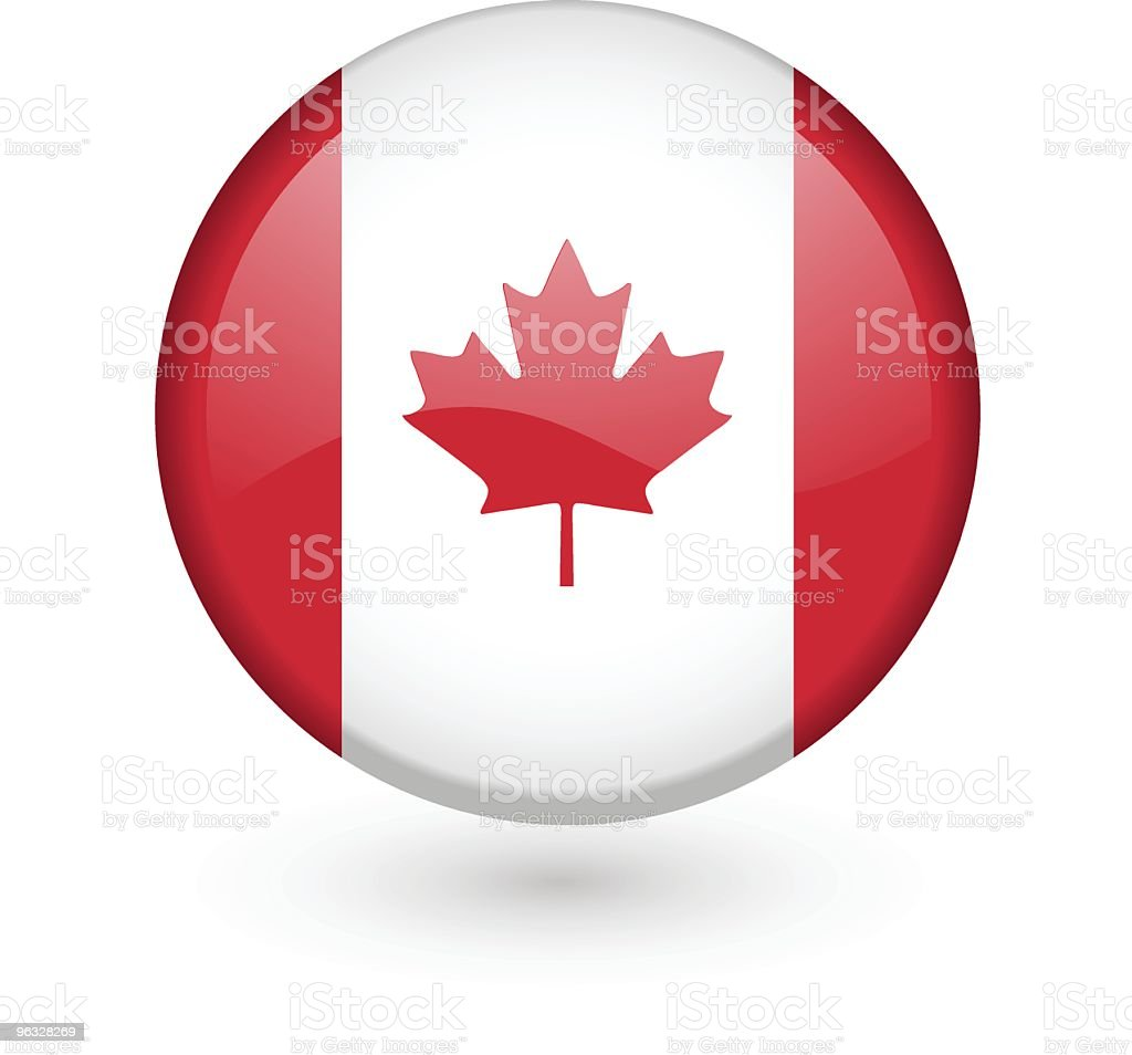 Canadian flag vector button royalty-free stock vector art