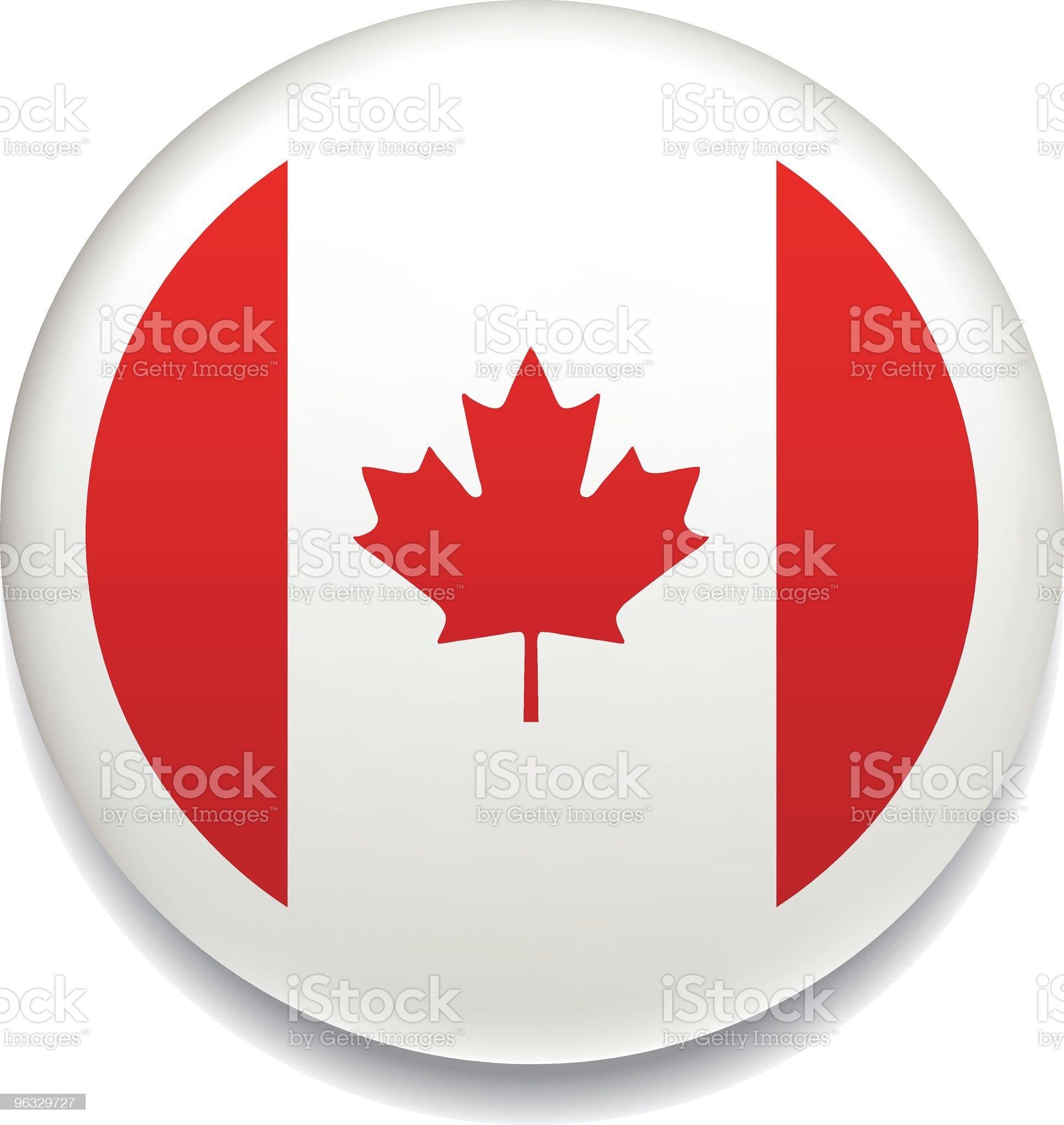 Canadian flag vector button royalty-free stock vector art