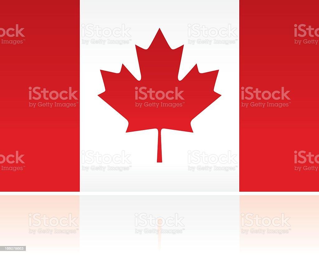 Canadian Flag vector art illustration