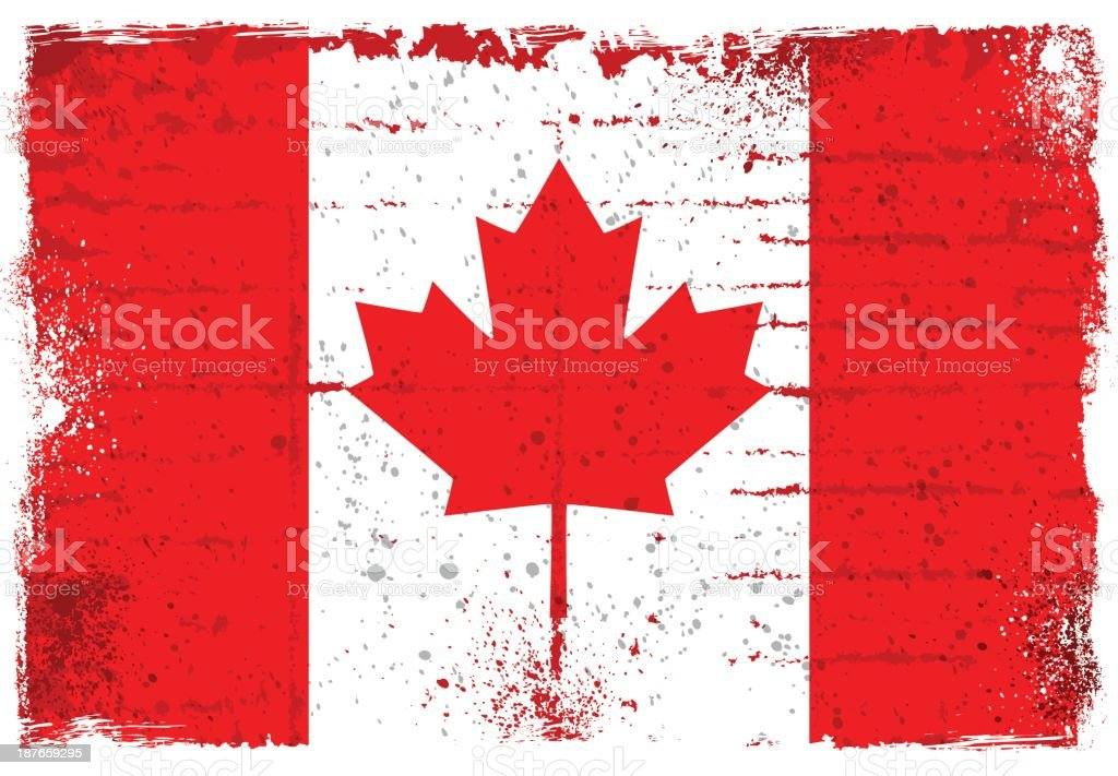 Canadian flag royalty-free stock vector art