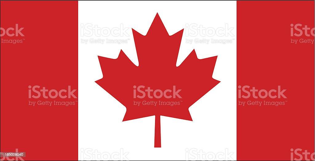Canadian Flag Vector vector art illustration