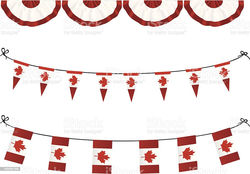 Canadian Flags royalty-free stock vector art