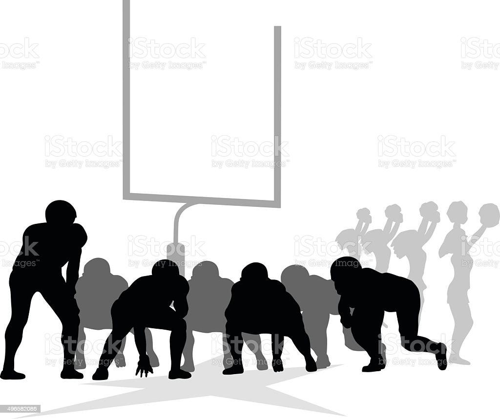 Canadian Football vector art illustration