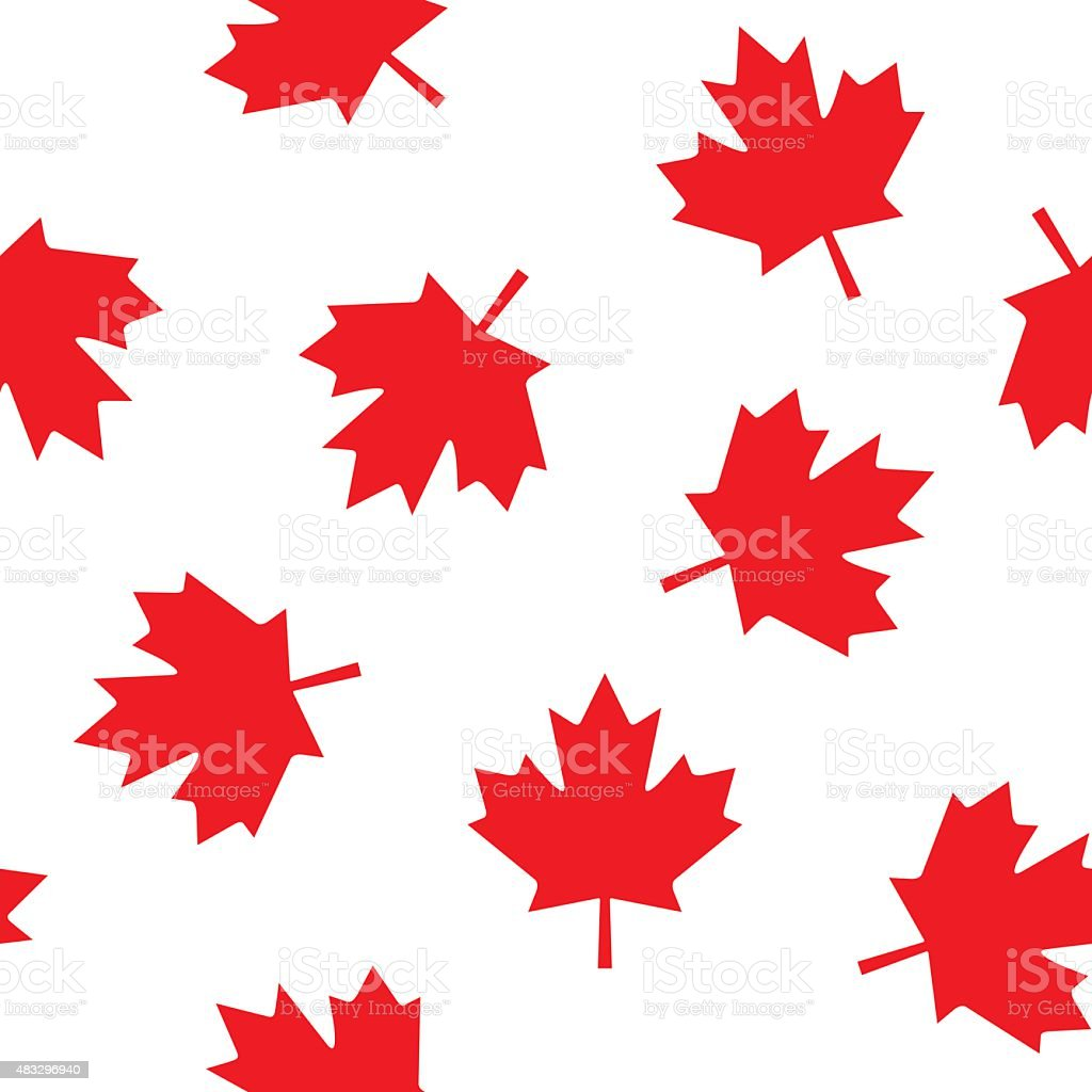 Canadian Leaf Pattern vector art illustration