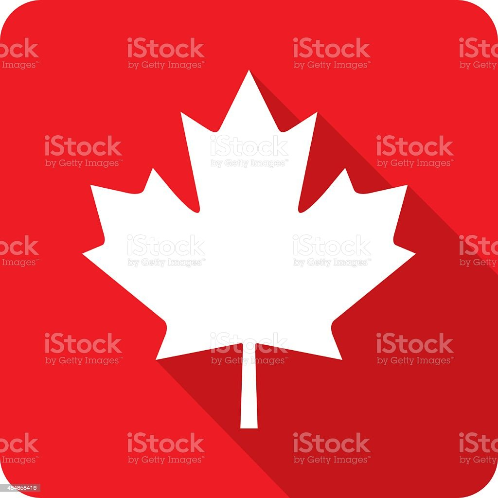 Canadian Maple Leaf Icon Silhouette vector art illustration