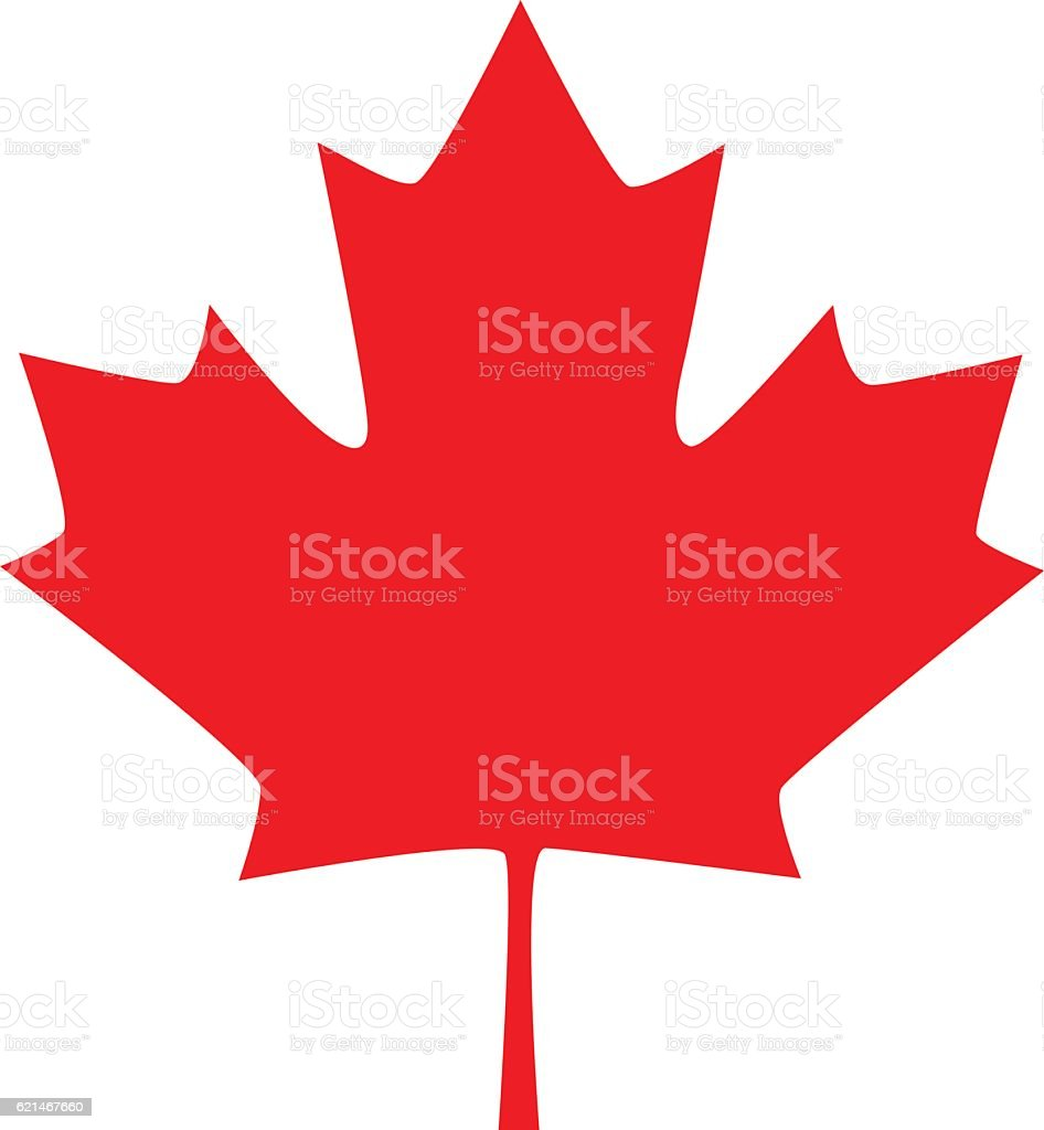 Canadian maple leaf icon. Vector illustration vector art illustration