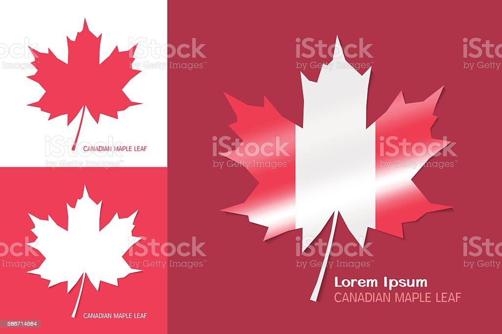 Canadian maple leaf symbol vector art illustration