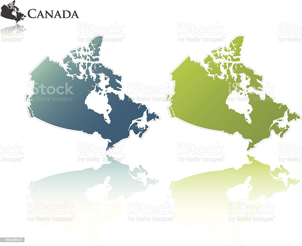 Canadian outline royalty-free stock vector art
