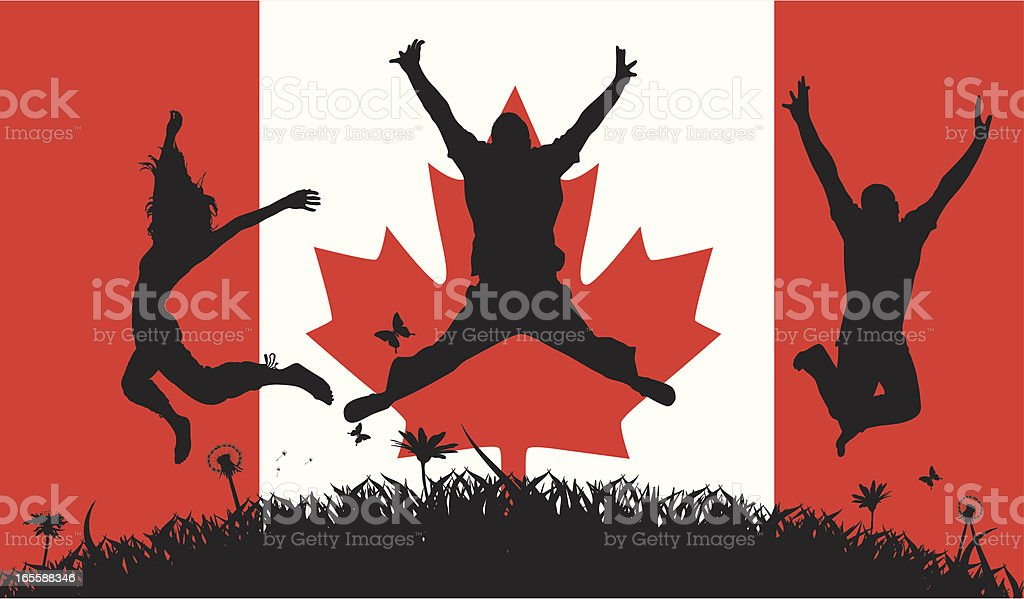 Canadian Pride royalty-free stock vector art