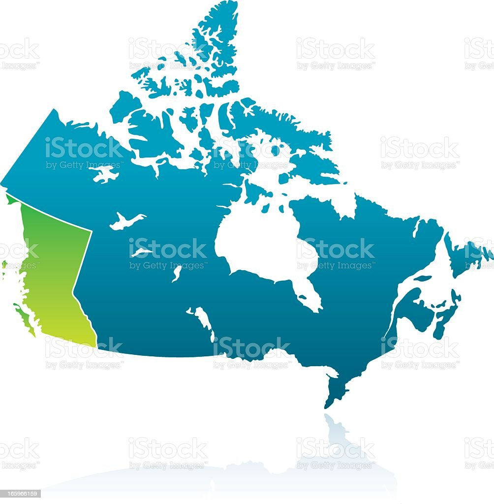 Canadian Province: British Columbia vector art illustration