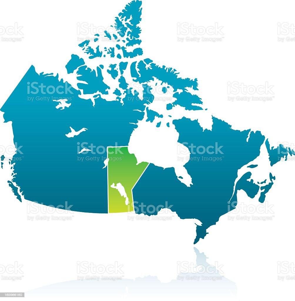 Canadian Province: Manitoba royalty-free stock vector art