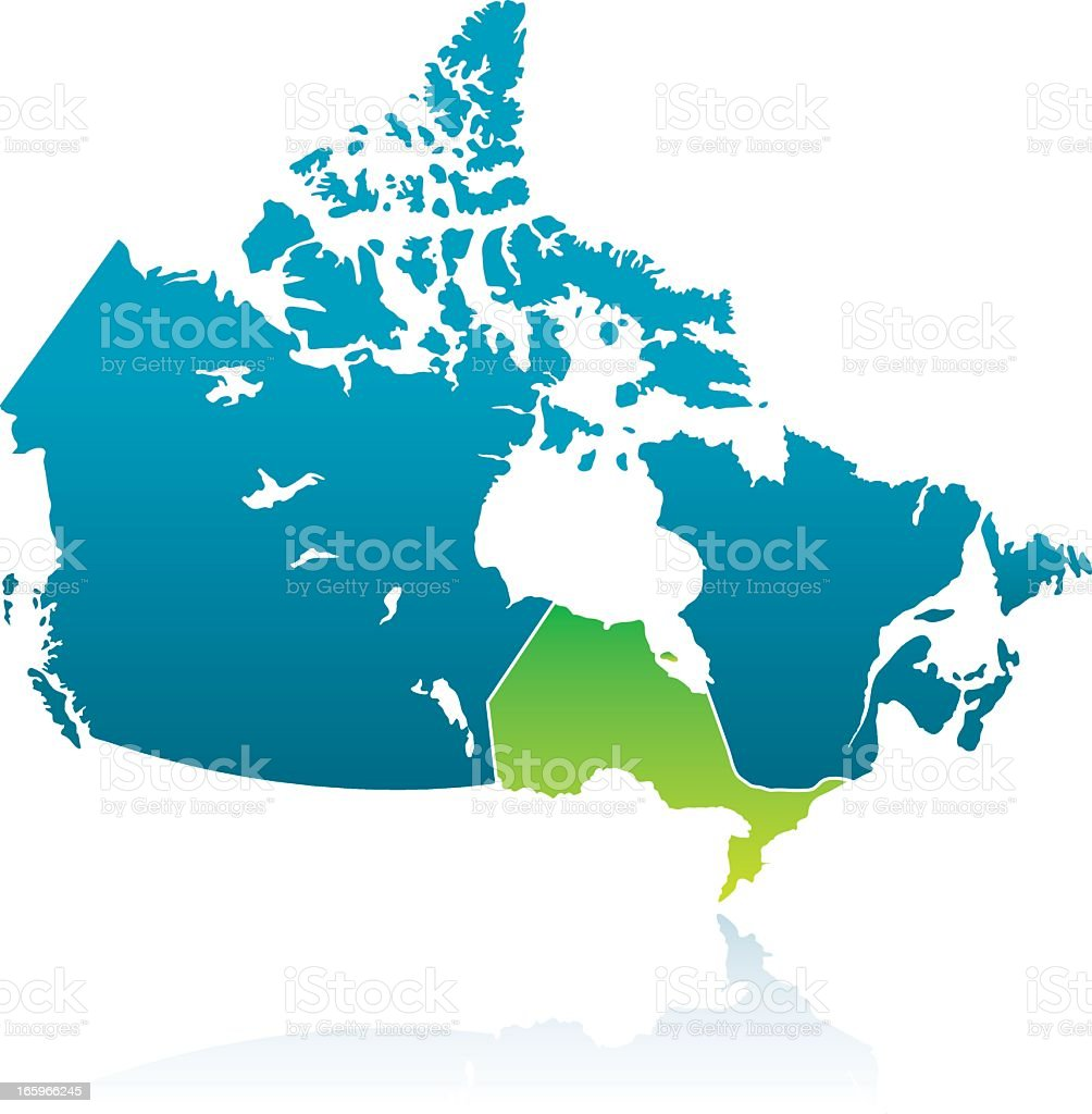 Canadian Province: Ontario vector art illustration