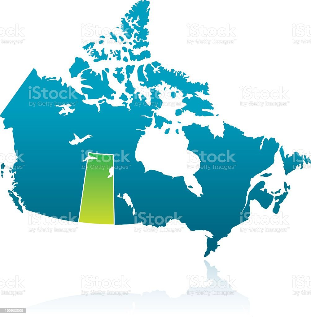 Canadian Province: Saskatchewan vector art illustration