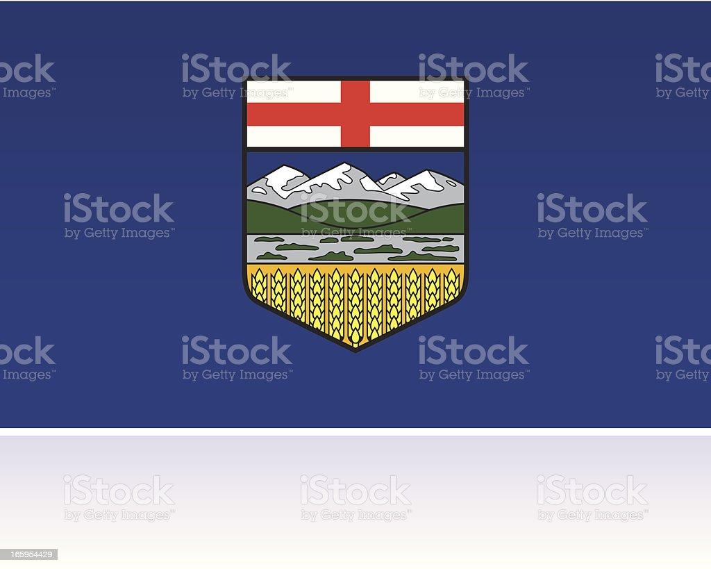 Canadian Provincial Flag: Alberta royalty-free stock vector art