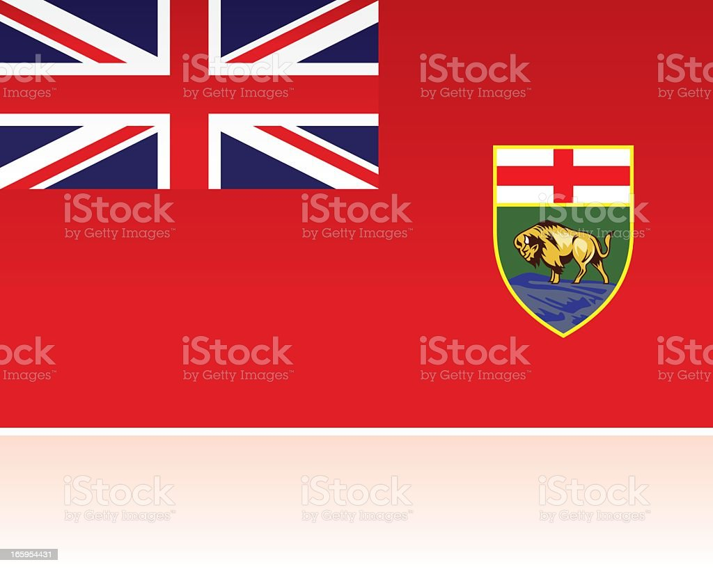 Canadian Provincial Flag: Manitoba royalty-free stock vector art