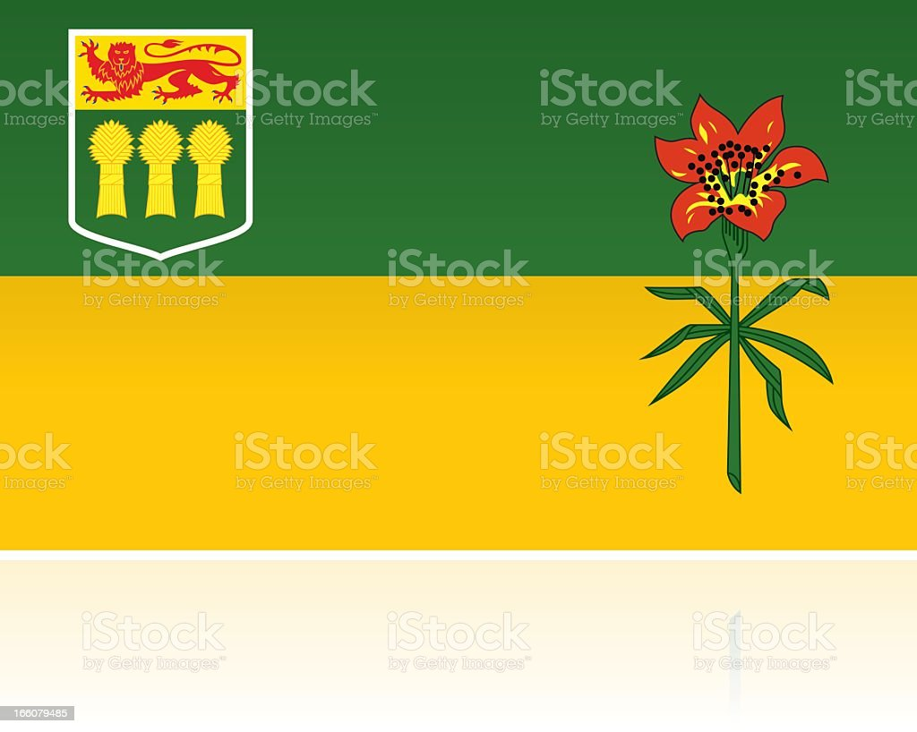 Canadian Provincial Flag: Saskatchewan royalty-free stock vector art