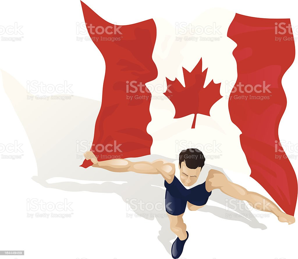 Canadian Race Winner royalty-free stock vector art