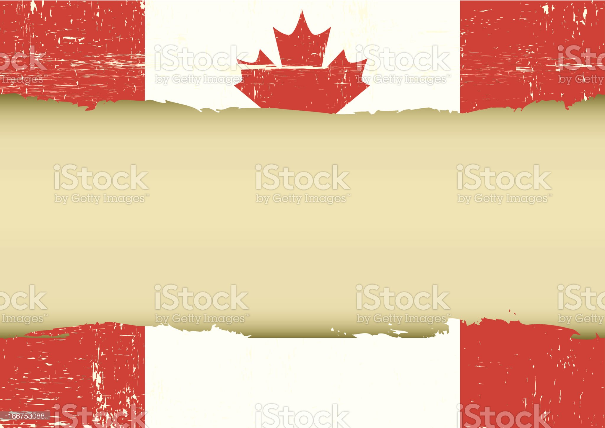 Canadian scratched flag royalty-free stock vector art