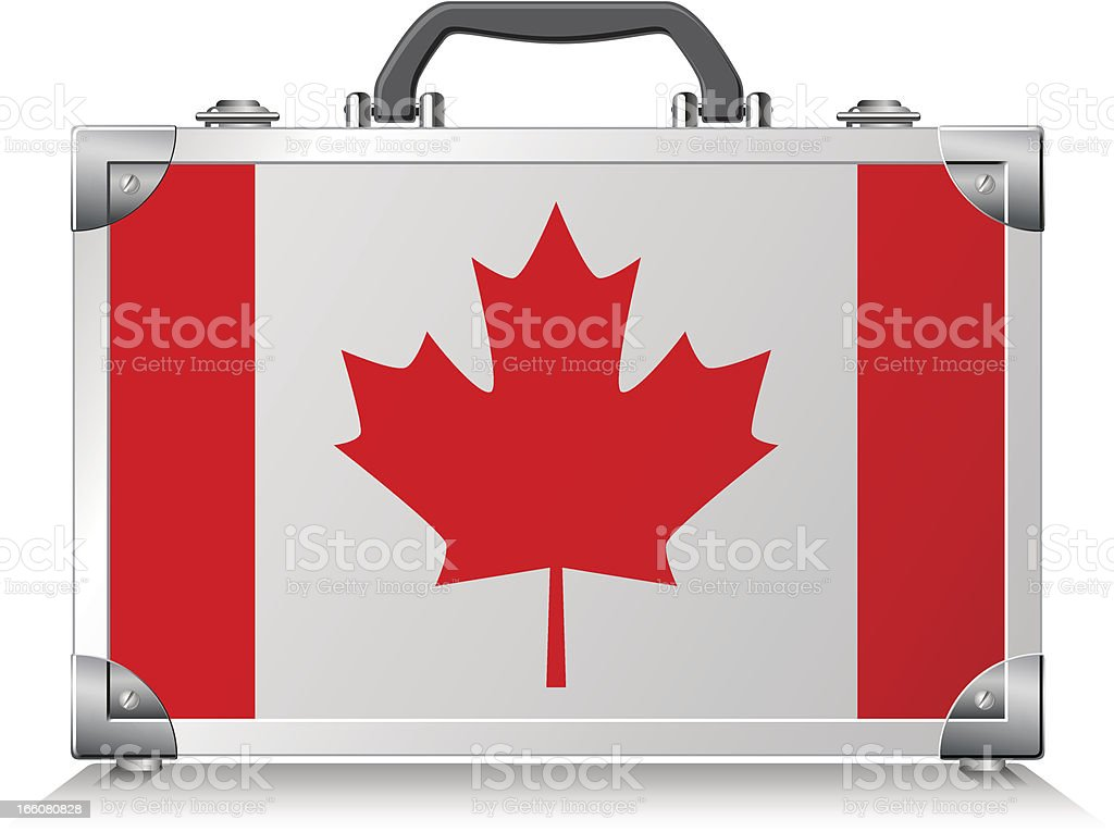 Canadian Suitcase vector art illustration