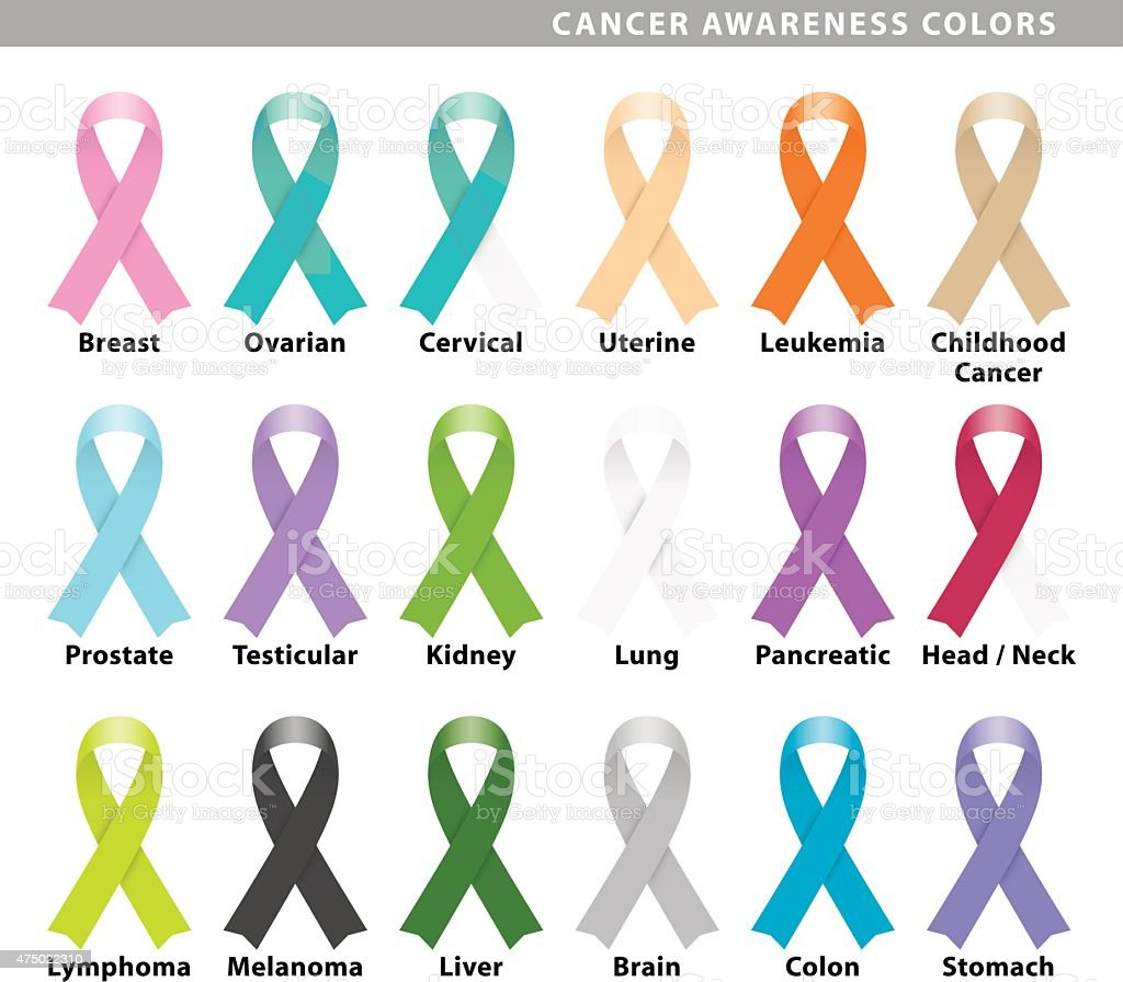 cancer awareness colors vector art illustration