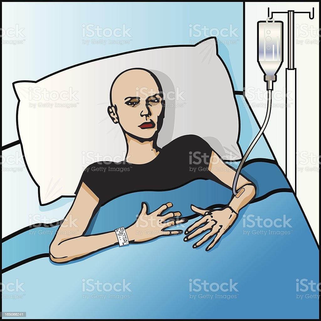 Cancer Patient vector art illustration