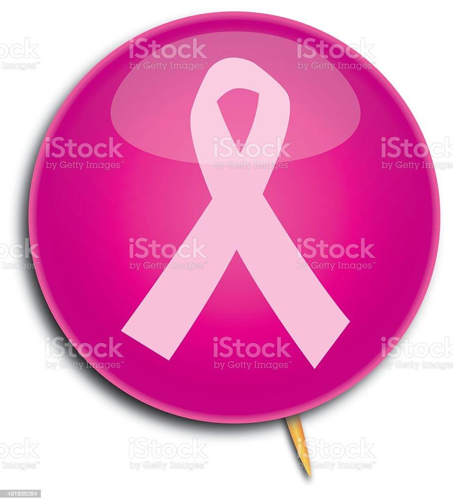 Cancer Ribbon Pin vector art illustration