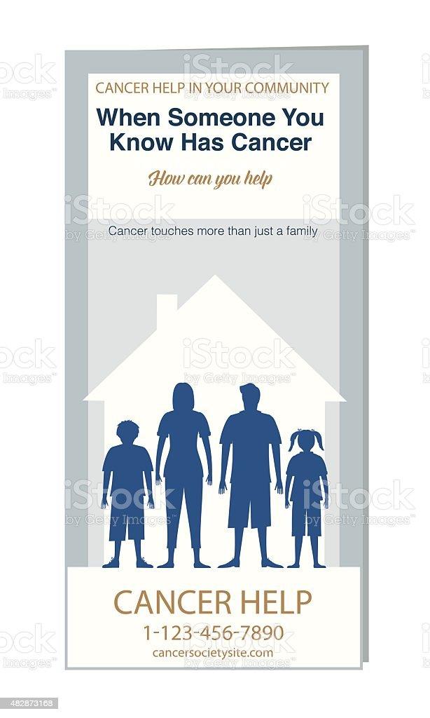 Cancer Self-Help Brochure Or Pamphlet Template vector art illustration