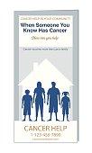 Cancer Self-Help Brochure Or Pamphlet Template